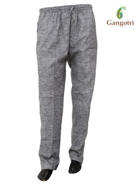 Trouser Handloom Cotton Double Extra Large Size-Gray