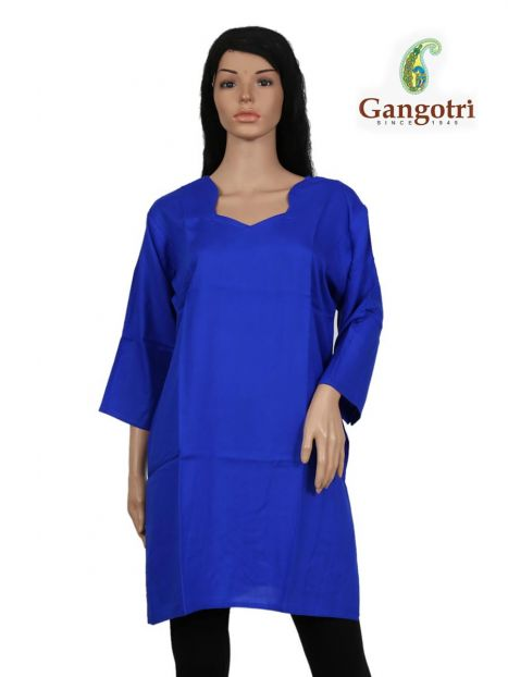 Top Plain Rayon 'Double Extra Large Size'-Royal Blue