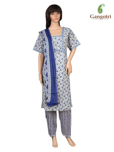 Punjabi Suit Cotton Print 'Size- Double Extra Large'