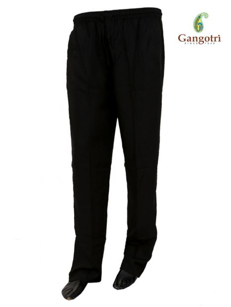Trouser Rayon Double Extra Large Size-Black