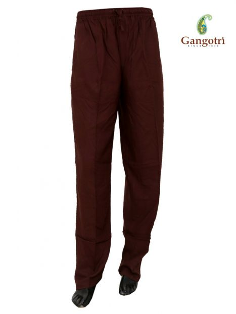 Trouser Rayon Double Extra Large Size-Brown
