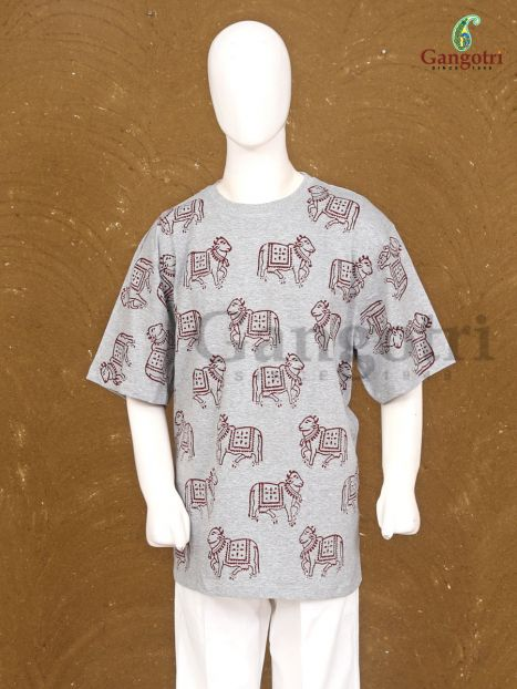 T-Shirt Hand Block Print 'Size - Double Extra Large'
