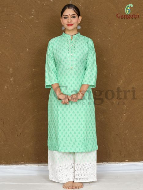 Kurti & Plazzo Set Rayon 'Double Extra Large'